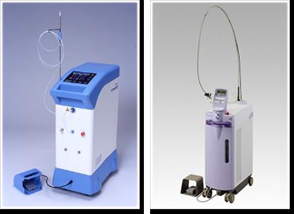 レーザー治療機2台あります